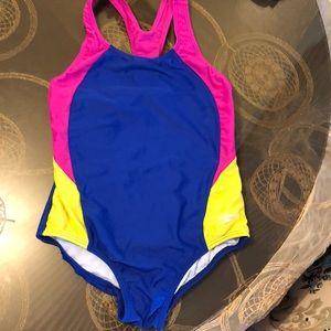 Speedo multi color girl bathing suit